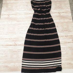 Jcrew striped maxi dress